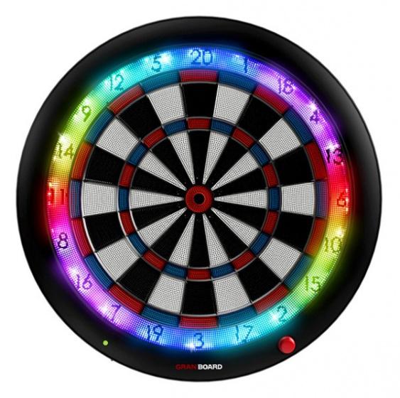 GranBoard elektronisch dartbord 3s 60 cm blauw-rood 4 delig
