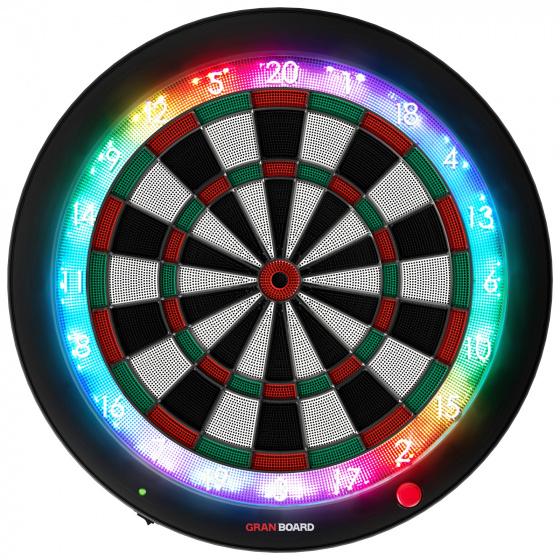 GranBoard elektronisch dartbord 3s 60 cm groen-rood 4 delig