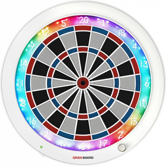GranBoard elektronisch dartbord 3s 60 cm wit-blauw-rood 4 delig