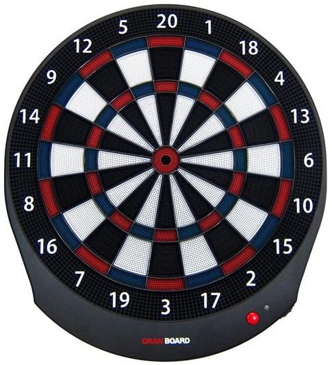 GranBoard smart dartbord Bluetooth 56 x 51 cm blauw 2 delig