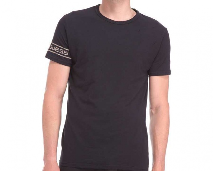 Guess T40 G019 Heren T Shirt Zwart Maat M