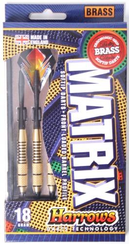 Harrows Darts Matrix Dartpijlen High Grade Brass Softtip 18 Gram