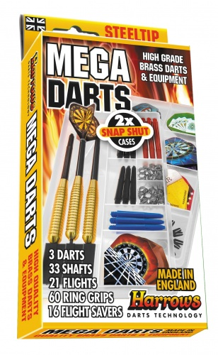 Harrows Darts Dartpijlen Mega Darts Steeltip Giftset