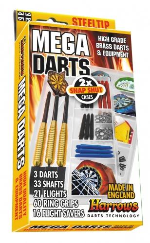 Harrows Darts Dartpijlen Mega Darts Steeltip Giftset