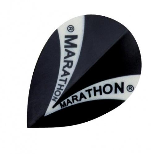 Harrows Darts Flight 1520 Marathon Pear Zwart 3 Stuks