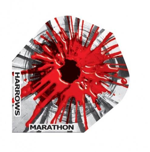 Harrows Darts Flight 1555 Marathon Rood Paintspot 3 Stuks