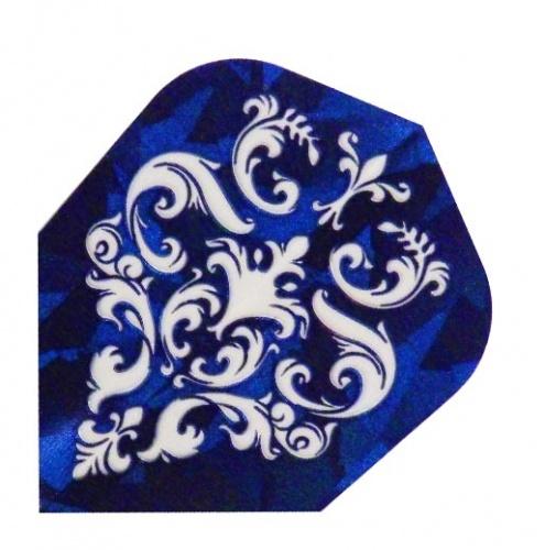 Harrows Darts Flight 1611 Hologram Blue Ornament