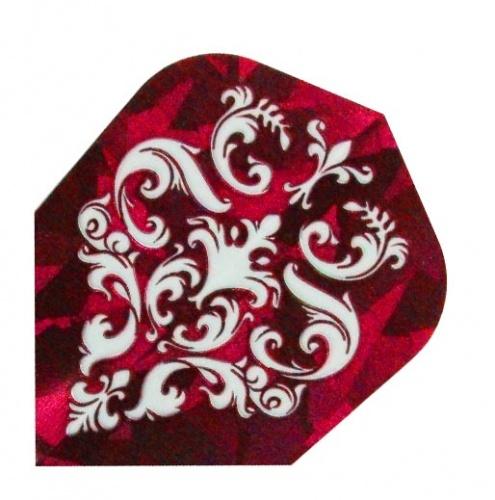 Harrows Darts Flight 1623 Hologram Red Ornament