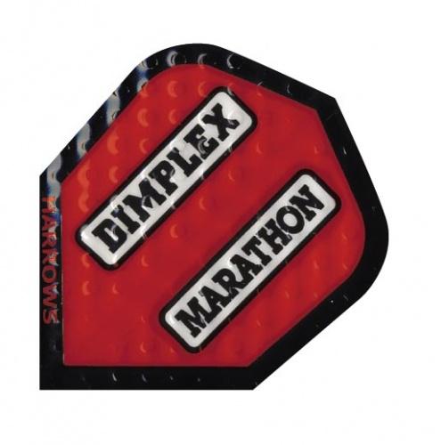 Harrows Darts Flight 1902 Dimplex Marathon Red