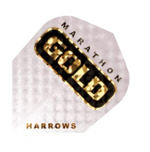 Harrows Darts Flight 2301 Marathon Gold White 3 Stuks
