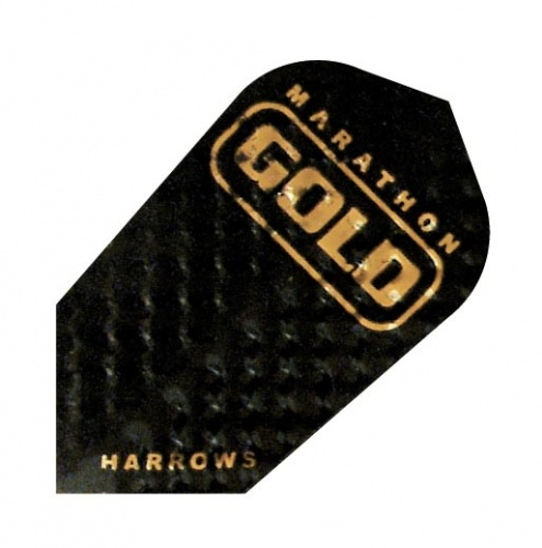 Harrows Darts Flight 2303 Marathon Gold Slim Black 3 Stuks