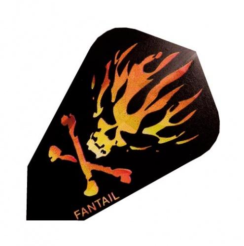 Harrows Darts Flight 3005 Fantail Flames And Skull 3 Stuks