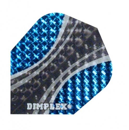Harrows Darts Flight 4015 Dimplex Zwart Blauw 3 Stuks