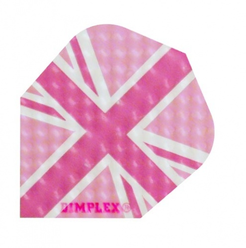 Harrows Darts Flight 4019 Dimplex Roze Union Jack 3 Stuks