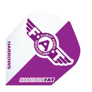 Harrows Darts Flight 5002 Marathon F.A.T. Paars 3 Stuks
