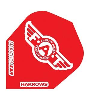 Harrows Darts Flight 5010 Marathon F.A.T. Solid Rood 3 Stuks