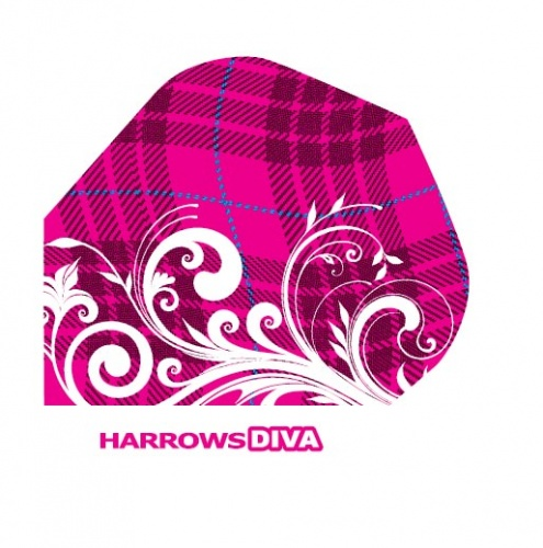 Harrows Darts Flight 6004 Diva Waves 3 Stuks