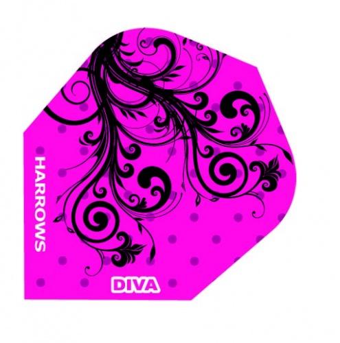 Harrows Darts Flight 6009 Diva Dark Organic 3 Stuks