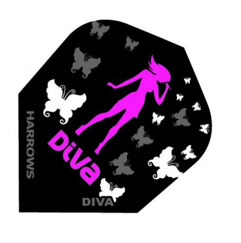 Harrows Darts Flight 6010 Diva Dark Dancing Queen 3 Stuks