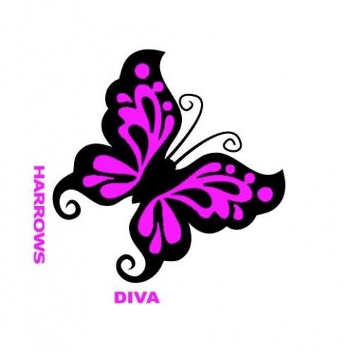 Harrows Darts Flight 6011 Diva Dark Butterfly 3 Stuks