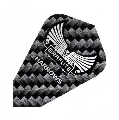 Harrows Darts Flight 7004 Graflite Fantail Zwart 3 Stuks