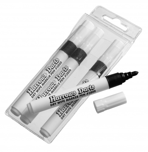 Harrows Darts White Board Markers Per 4 Stuks