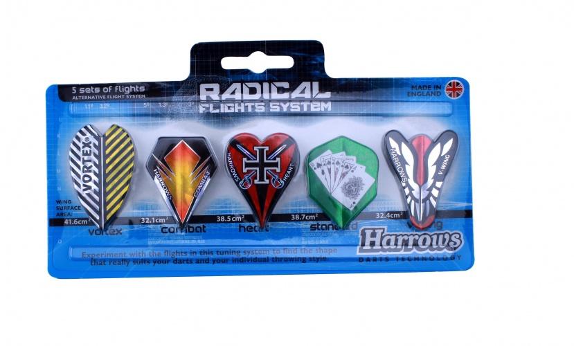 Harrows Darts Radical Flights System 5 Sets Van 3 Flights