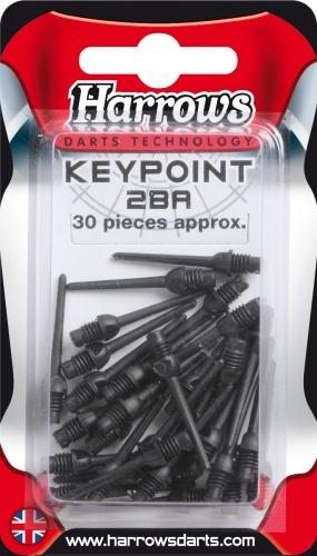 Harrows Darts Softtip punten Keypoint 2BA zwart 30 stuks
