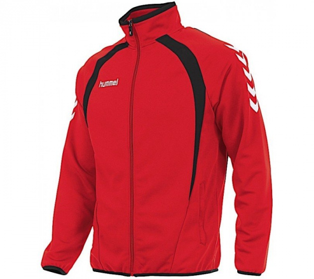 Hummel sportjack Team Top Full Zip junior polyester rood