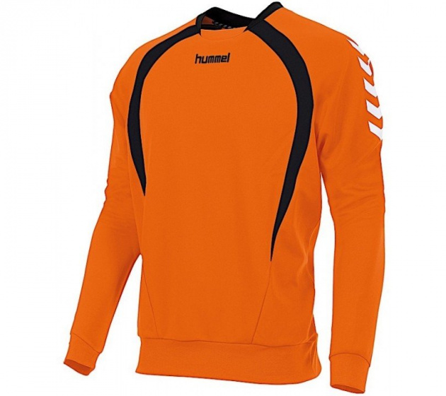 Hummel sportsweater Team Top Round Neck junior polyester oranje