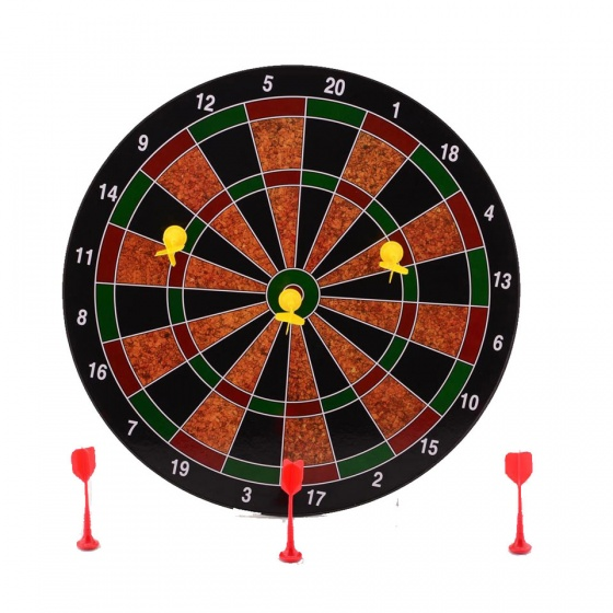 Johntoy magnetisch dartbord 35 cm 7 delig