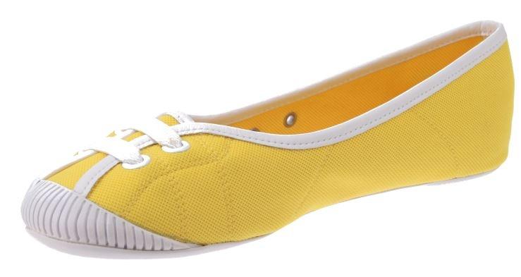 lacoste ithia ballerina ladies yellow white size 39 5 internet sport casuals. Black Bedroom Furniture Sets. Home Design Ideas