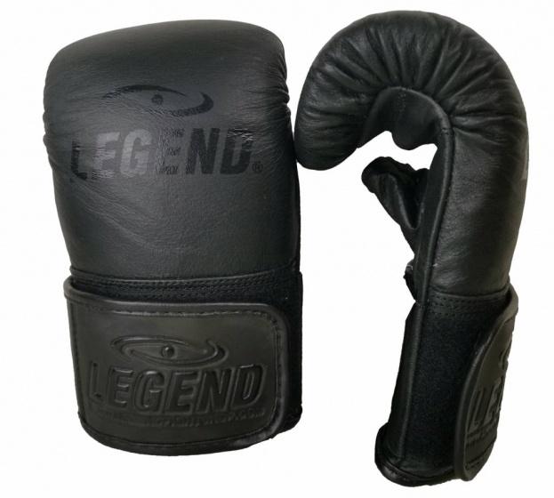 Legend Sports bokshandschoenen Wrist Lock leer zwart