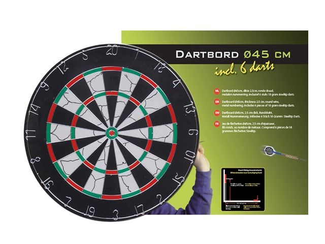 Longfield Games Dartbord 2,5CM
