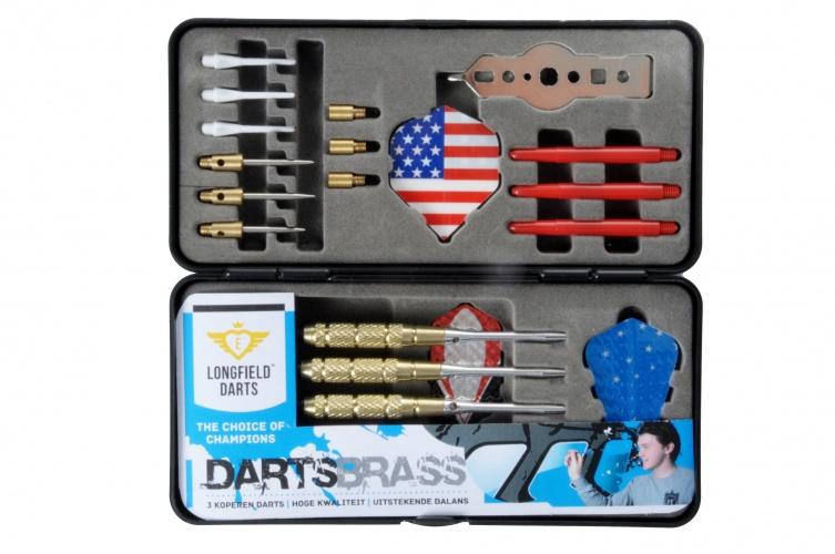Longfield Games Cadeauset Brass Darts 18 21 Gram