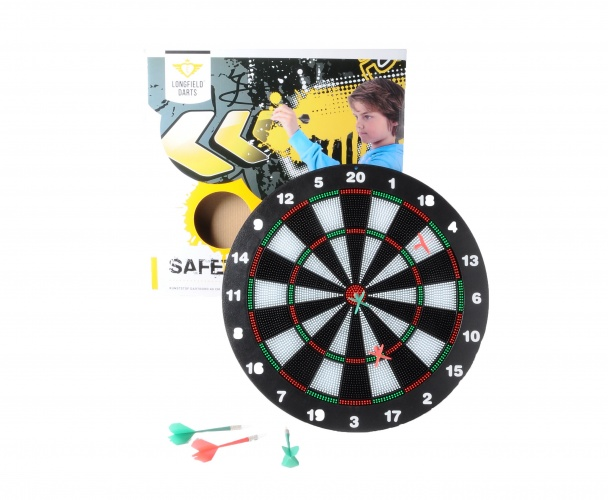 Longfield Games Kinder Safety Dartbord Incl. 6 Darts
