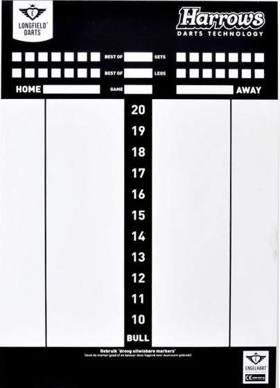 Longfield Games Darts Scorebord