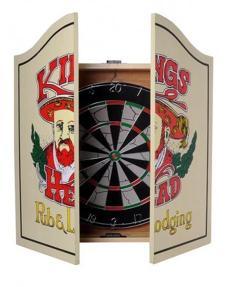 Longfield Games Houten Cabinet Met Flocked Dartbord 2cm