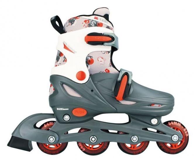 Nijdam 52QM 3in1 Inline Skates Quad Grijs-Wit Maat 27-30