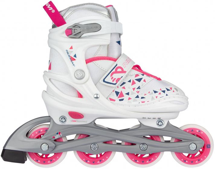 Nijdam skates White Wedge meisjes polyester wit-roze maat 29-32