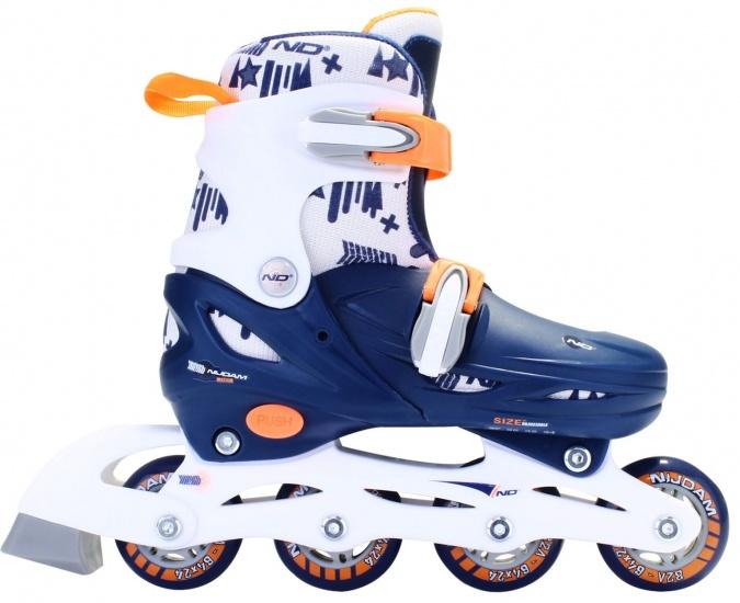 Nijdam Inlineskates hardboot junior blauw-wit maat 27 30
