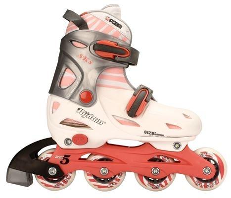 95a83edc9fd Nijdam junior inline-skates 34-37 roze-antraciet 52SC