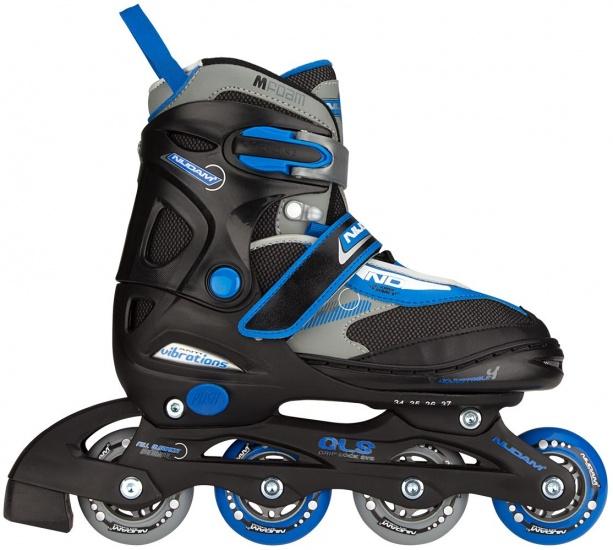 d75005b2475 Nijdam inline skates verstelbaar junior zw maat 34 37