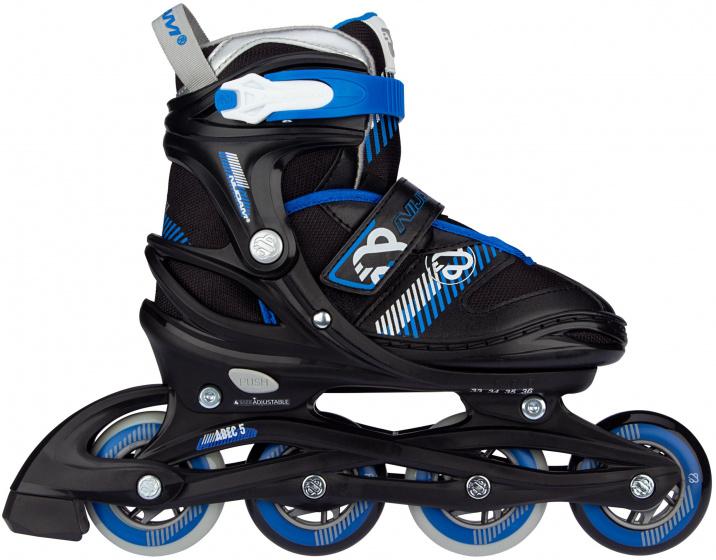 Nijdam skates Go Crossing junior polyester zwart-blauw maat 29-32