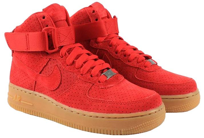 Nike Sneakers Air Force 1 Hi Suede dames rood maat 38