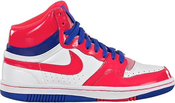Nike Court Force High Dames Sneakers Wit-Solar Rood Maat 6.5