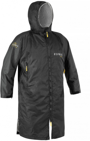 Osprey omkleedbadjas polyester/fleece zwart maat XL
