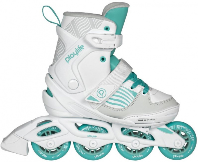 Playlife inline skates Light Breeze wit-turquoise mt 29-32