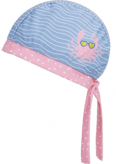 Playshoes badmuts Krab meisjes polyester roze/blauw mt 55 cm