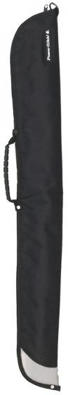 Powerglide keu koffer Silver Edge 92 cm polyester zwart/zilver
